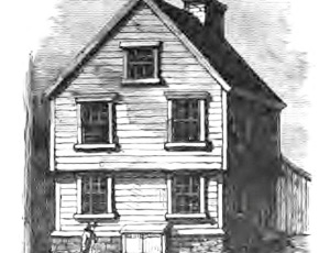 Drawing of the birth place of Franklin