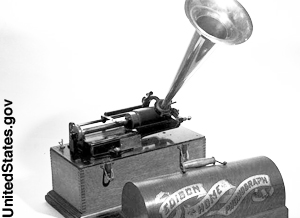 A portable phonograph