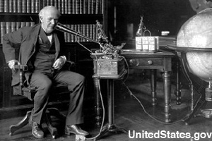 Edison and his dictation machine