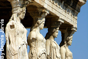 Statues on the Acropolis of Athens