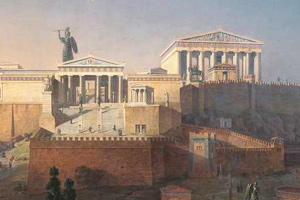 Painting of the Acropolis of Athens
