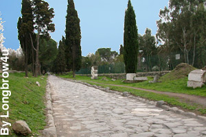 Section of the Apian Way, ancient road of Rome