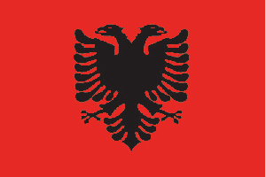 The flag of Albania
