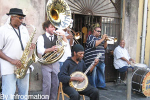 Famous Preservation Hall jazz band