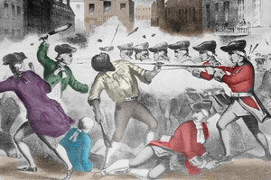 The shooting of Crispus Attucks