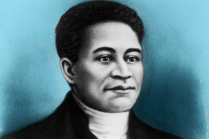 A drawing of Crispus Attucks
