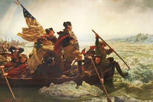 General Washington crossing the Delaware River