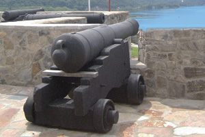 A cannon guarding the Hudson River