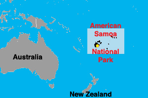 Location of American Samoa National Park