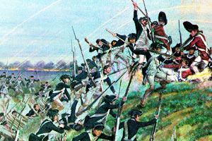 The Continental Army attacking the British