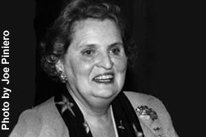 Albright worked in politics most of her career.