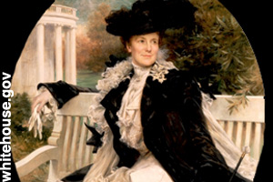 The official portrait of Edith Roosevelt