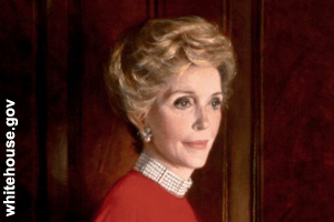 The official portrait of Nancy Reagan