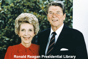 First Lady and President Reagan in 1985