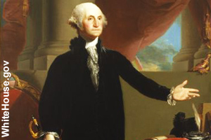 The official portrait of George Washingtion