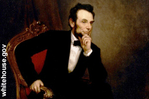 The official portrait of Abraham Lincoln