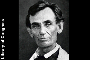 Lincolnas a young man