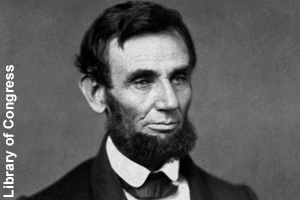 Photo taken shortly after Lincoln <br>became president