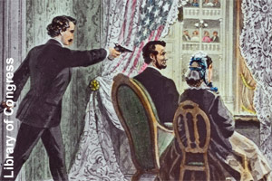 Drawing of the assassination of <br>Abraham Lincoln