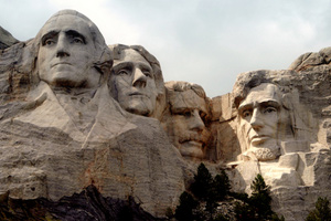 Mount Rushmore: Washington, Jefferson, <br>T. Roosevelt and Lincoln