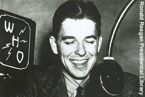 Ronald Reagan, sports announcer in Iowa