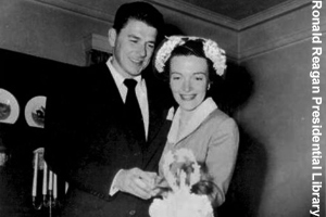 Ronald and Nancy's Wedding Day, 1952