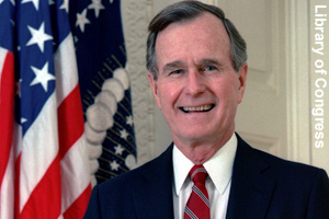 The official photo of George H.W. Bush