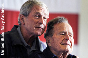 George W. and George H.W. together in 2012