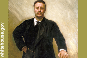 The official portrait of Theodore Roosevelt