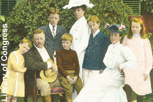 President and Mrs. Roosevelt and their children