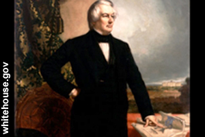 The official portrait of Millard Fillmore