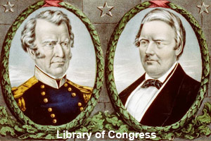 Campaign poster for Zachary Taylor <br>and Millard Fillmore