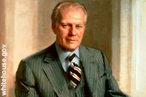 The official portrait of Gerald Ford