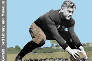 Gerald Ford, high school <br>and college football star