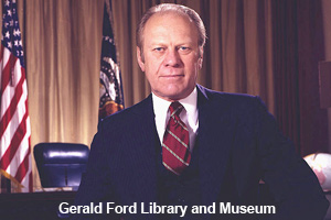 The official photo of President Gerald Ford
