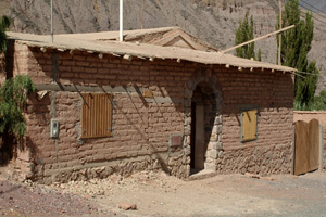 An old house made of adobe bricks
