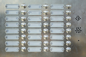 Doorbells for an apartment building
