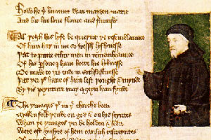 Copy of the poem by Chaucer