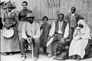 Family picture; Miss Tubman is on the far right