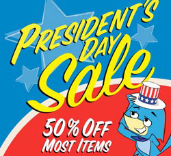 Presidents' Day sales ad