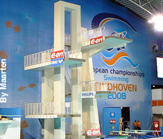 A very tall diving platform