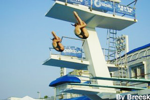 Synchronized diving